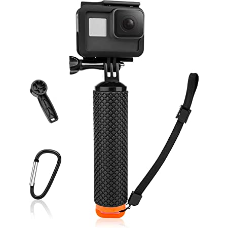 Amazon Com Waterproof Floating Hand Grip Compatible With Gopro Hero 9 8 7 6 5 4 3 3 2 1 Session Black Silver Camera Handler Handle Mount Accessories Kit For Water Sport And Action Cameras Orange Camera Photo
