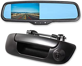 $162 » EWAY Tailgate Handle Backup Reverse Camera with 4.3 inch Rear View Mirror Monitor Kit for Dodge Ram 1500 2500 3500 2002-20...