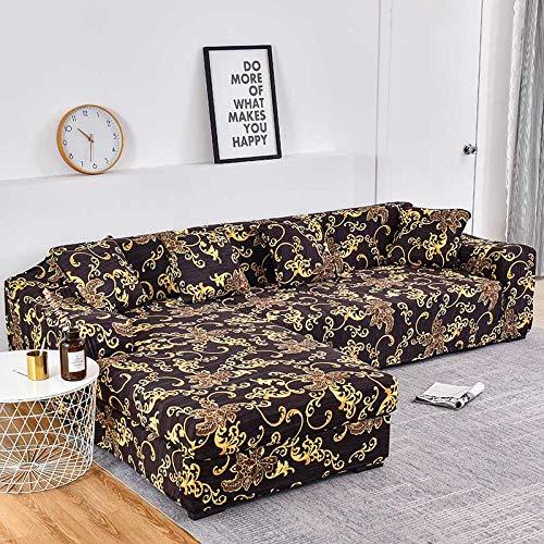 WXQY Funda de sofá con Estampado Floral, Esquina de Asiento, sofá Chaise Longue en Forma de L, Funda de sofá elástica, Funda de sillón A18, 1 Plaza