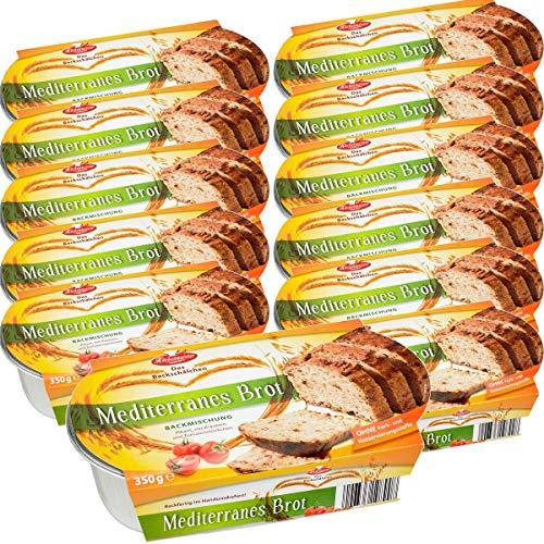 BIELMEIER KÜCHENMEISTER Brotbackmischung Mediterranesbrot 12 Stück á 350 g made in Germany