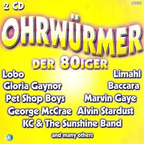 Erinnerungen an die 80er Jahre, die einem nicht mehr aus dem Kopf gehen (CD Compilation, 36 Tracks) the nolans - i'm in the mood for dancing / audrey landers - playa blanca / lobo - the caribbean disco show / los reyes - bamboleo / toto coelo - i eat cannibals / ruby turner & jonathan butler - if you're ready (come go with me) / silver convention - get up and boogie / cajun coons - cotton balls field etc.