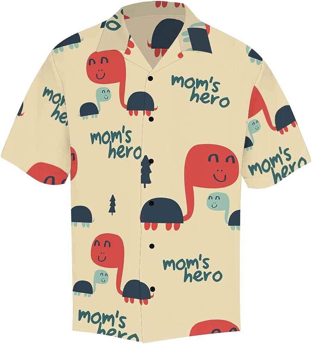 InterestPrint Men's Casual Button Down Short Sleeve Easter Egg Hawaiian Shirt (S-5XL)
