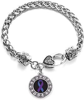 Silver Circle Charm Bracelet with Cubic Zirconia Jewelry