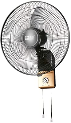FAN MAZHONG Wall-Mounted 16-inch Swinging Golden Yellow 60W