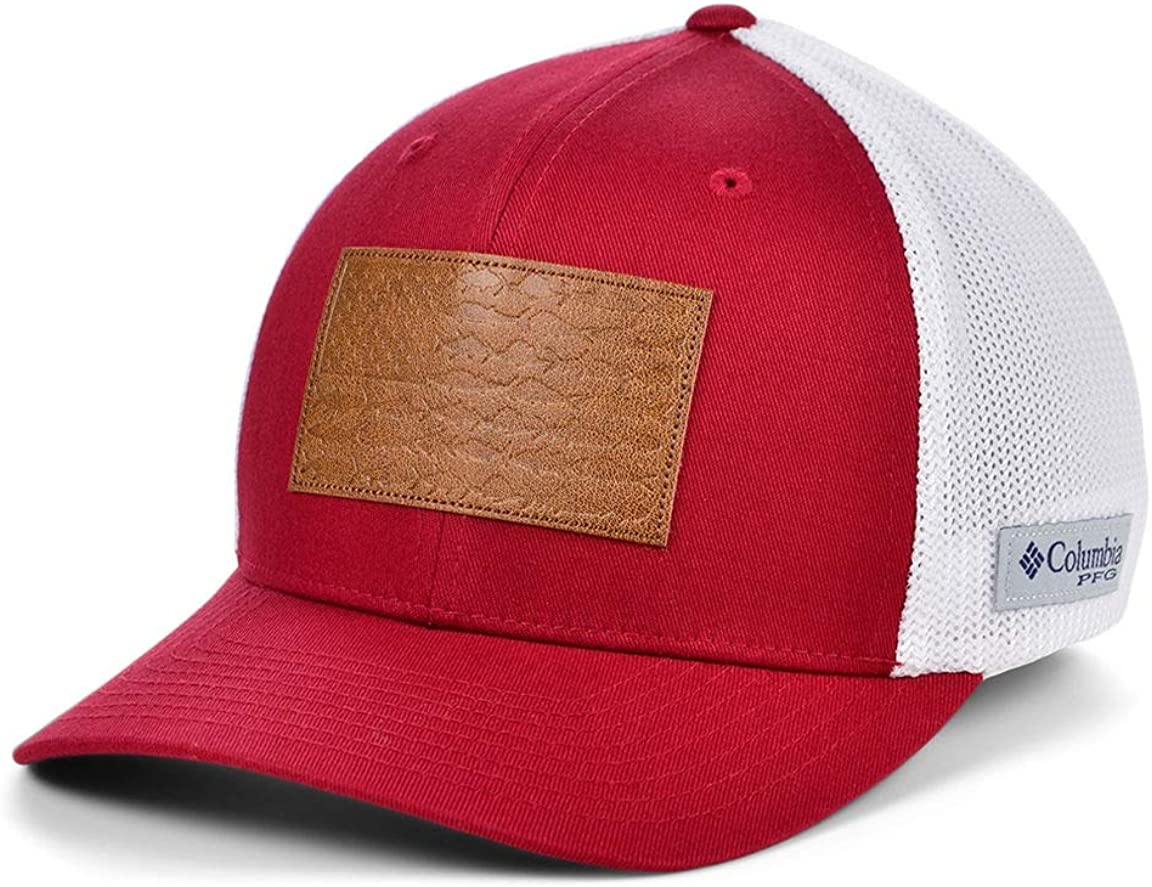 Columbia PFG Leather Fish Flag Stretch-Fit Hat