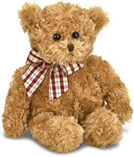 Bearington Baby Wuggles Brown Plush Stuffed Animal Teddy Bear, 13 inches