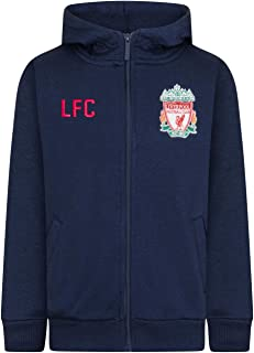 Liverpool Football Club Official Soccer Gift Mens Fleece Zip Hoody