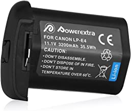 Powerextra Replacement Canon LP-E4 Li-ion Battery for Canon LP-E4N and Canon EOS-1D C, EOS-1D Mark III, EOS-1D Mark IV, EOS-1Ds Mark III, EOS-1Ds Mark IV Digital Camera