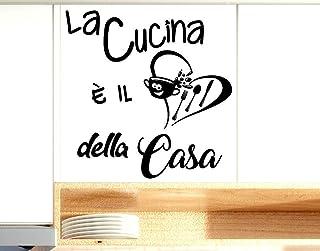 Adesivi Murali frasi Cucina la cucina è il cuore della casa scritte italiano wall stickers kitchen decorazione casa da par...