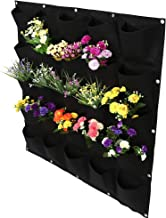 FAMKIT 25 Pockets Vertical Planting Bag Outdoor Garden Vertical Plant Grow Bag Wall Hanging Flower Growing Container