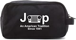 Jeep An American Tradition Canvas Shower Kit Travel Toiletry Bag Case