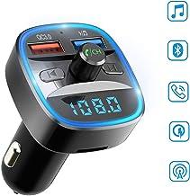 Ecomono Transmisor FM Bluetooth para Coche, Adaptador de