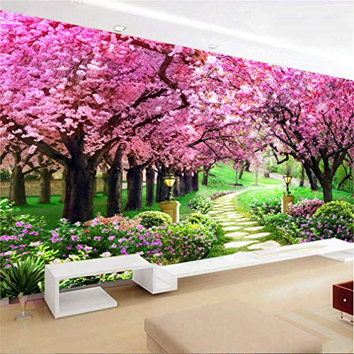 RAILONCH 5D Diamond Painting DIY Full Drill Cherry Blossoms Rhinestone for Home Wall Decor (100x45cm)