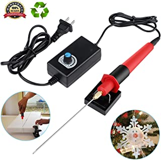 GUOfeudallord Foam Cutter, 13cm Electric Foam Cutting Pen 30-300°C Adjustable Temperature Foam Carving Tool with Iron Bracket for Making Small Craft Model, Advertising Font & Student Manual Model