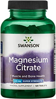 Swanson Super-Strength Magnesium Citrate 225 Milligrams 120 Tabs