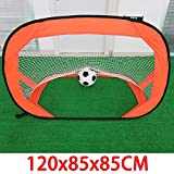 DERTHWER Kids Football Nets, Foldable Football Goal Multifunctional Simple Portable Outdoor Children's Sports Goal for Kids Great for Backyard Or Indoor Play (Color : Orange, Size : One Size)