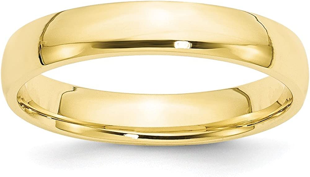 Solid 10k Yellow Gold Daily bargain sale 4mm Fit Band Wedding El Paso Mall Comfort
