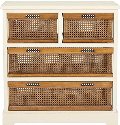 Safavieh EUH6504 Ablageschrank, Holz, Weiß, 73 x 35 x 76.96 cm