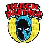 Retro Marvel Black Panther Superhero IronOn Patch Comics Fan Apparel Applique