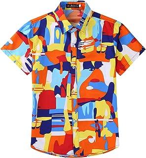 Xuba Men Women Hawaiian Summer Cool Printed Beach Shirt