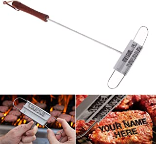 Whitelotous BBQ Branding Iron with Changeable Letters Meat Steak DIY Tools for Personalized Grilling