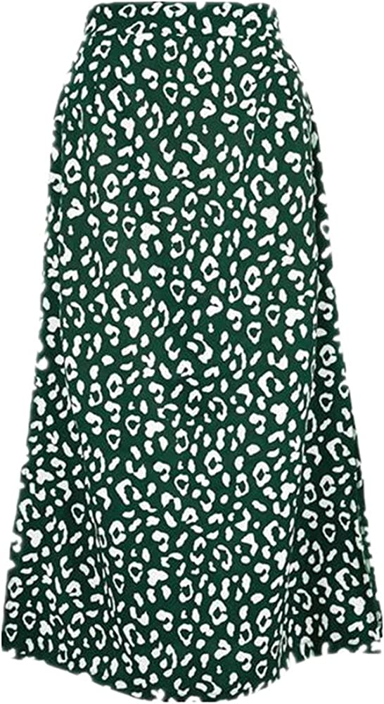 NP Woman Skirts Spring/Summer Ladies Leopard Print Chiffon Printing