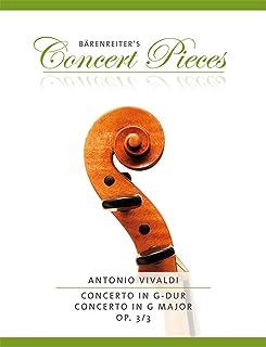 Concerto for Violin in G major Op.3/3 (RV 310) (Violin & Piano)