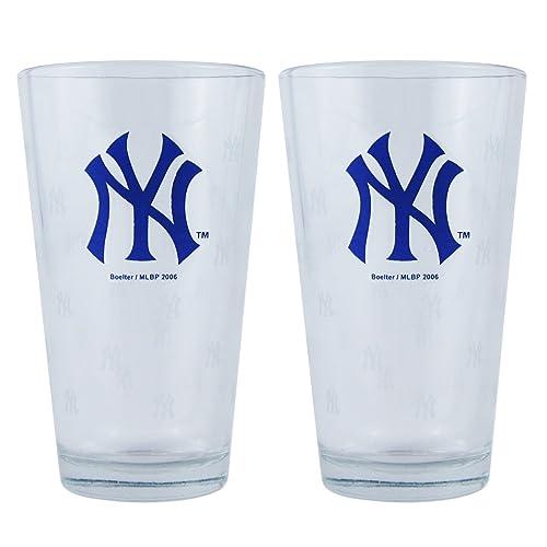 6456f6567 MLB New York Yankees Boelter Pint Glasses 2-Pack