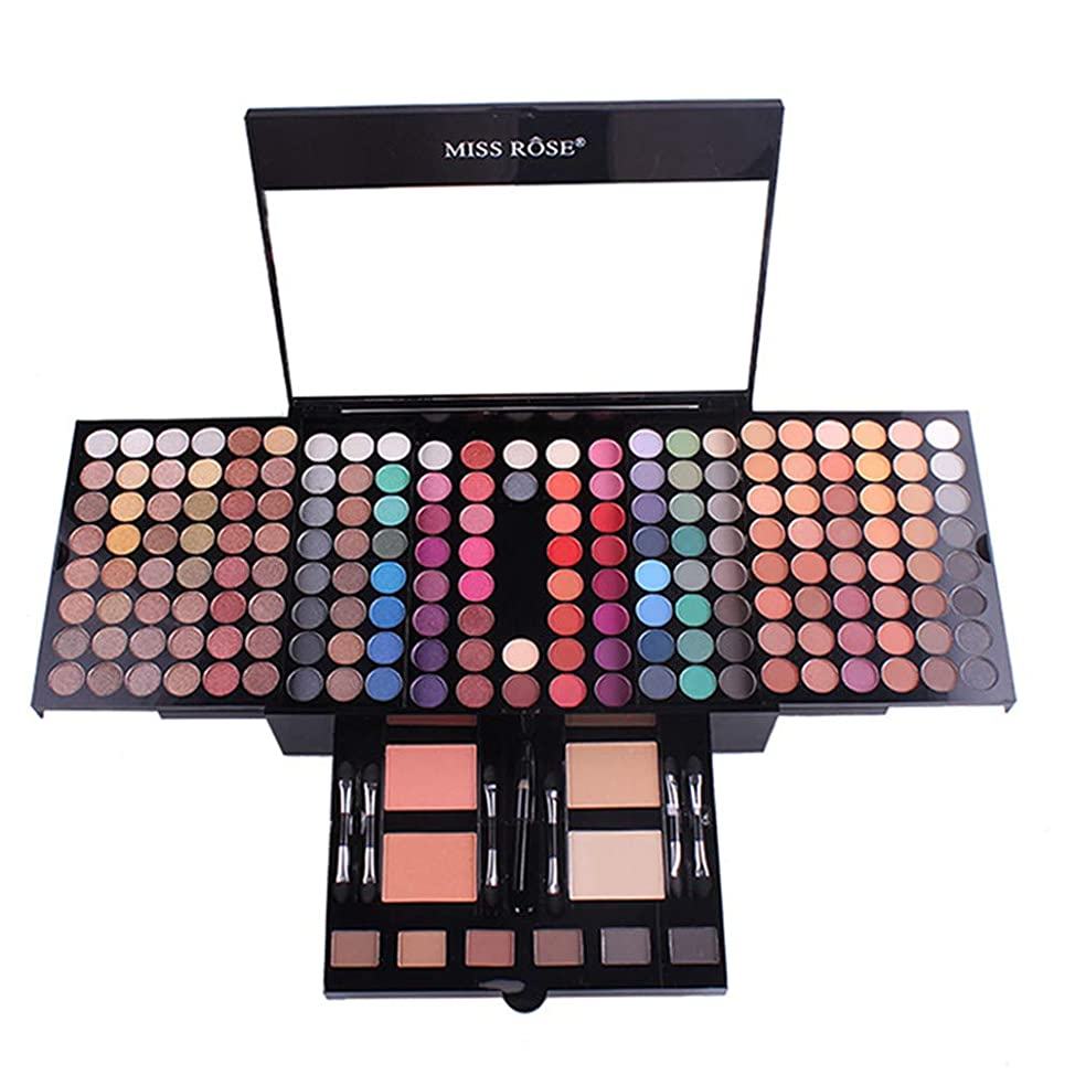 PhantomSky 180 Colors Eyeshadow Palette Makeup Contouring Kit Combination with Blusher and Pressed Powder - Perfect Cosmetics for Professional and Daily Use