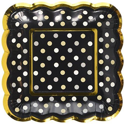 Amscan International 436003 Noir Buffet festonné plaques