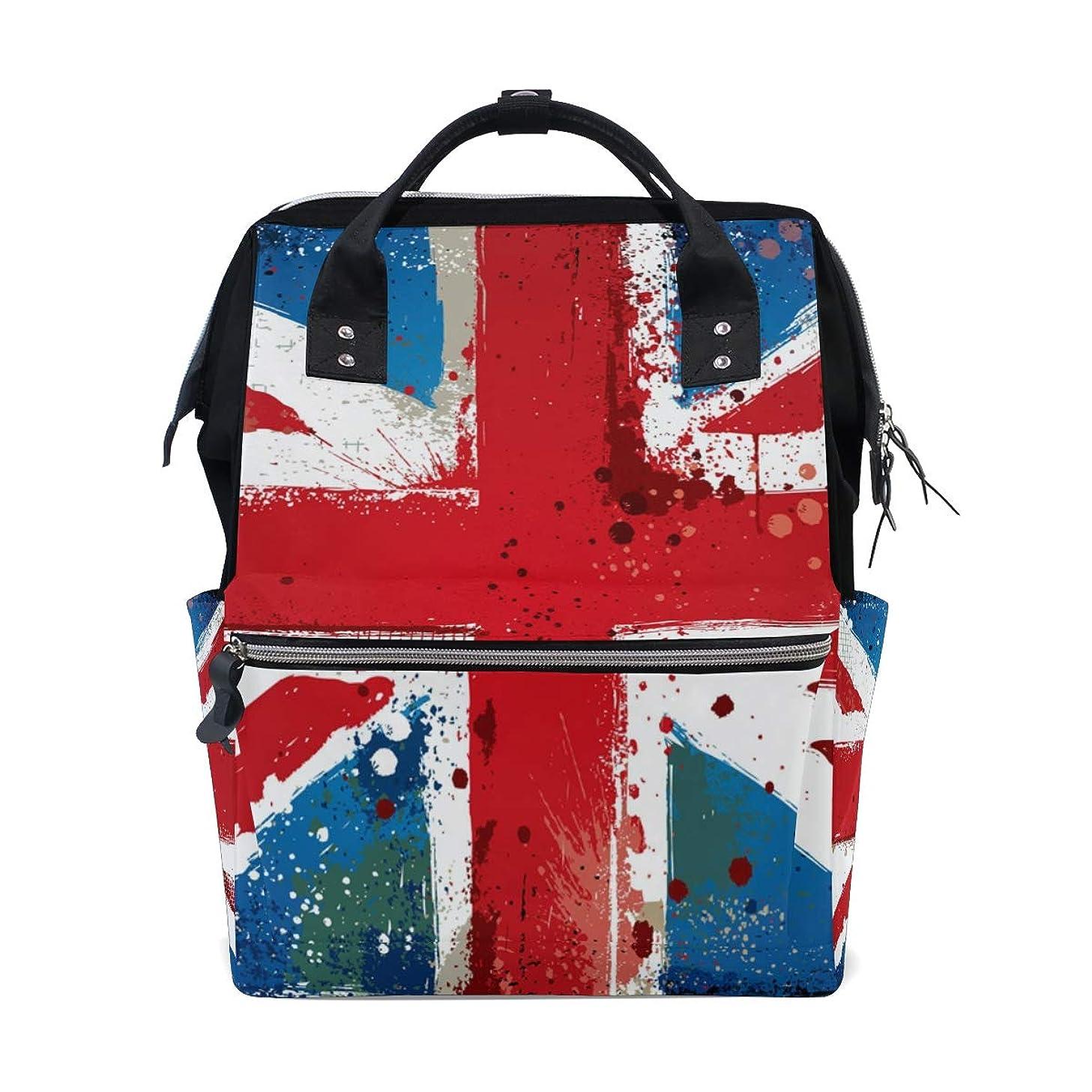 British Flag School Backpack Large Capacity Mummy Bags Laptop Handbag Casual Travel Rucksack Satchel For Women Men Adult Teen Children