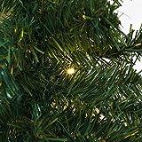 Casaria Weihnachtsgirlande I 5m I 100 LED's I In- & Outdoor I Tannengirlande Tannenzweiggirlande Weihnachtsdeko - 8