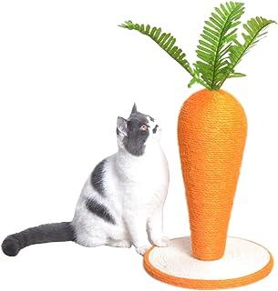 CLOUSPO 猫 爪とぎ ポール 猫用 研ぎ 人参形 可愛い 猫タワー キャットタワー 天然サイザル麻 ペット用品 組み立て簡単