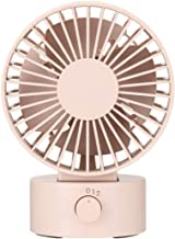 Muji Low Noise USB Desk Fan, Pink