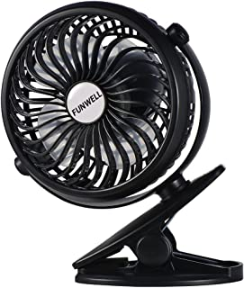 Battery Operated Clip on Fan (2600 mAh Power), Mini Portable Rechargeable USB Fan for Table, Desk, Personal, Travel, Baby Stroller, Car Backseat, Outdoor Camping