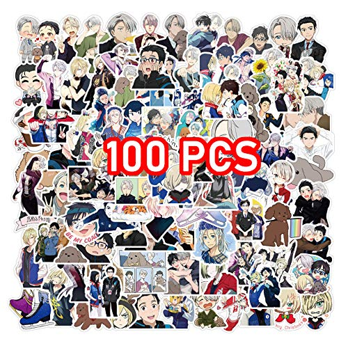 Yuri on Ice Stickers 100PCS Yuri on Ice Merch Stickers Pack (Yuri on Ice Sticker)