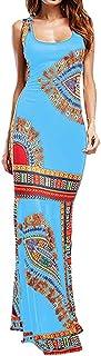 ✔ Hypothesis_X ☎ Women's Vintage Boho Summer Sleeveless Beach Printed Mini Dress Long Party Dress Evening Cocktail Dress