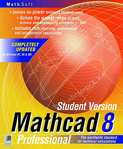 Mathcad 8 Professional Student Version, 1 CD-ROM English version f. Windows 95/98 or NT 4.0