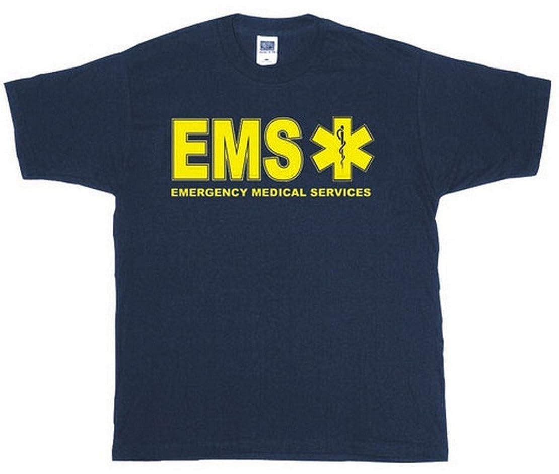 ダーツ風刺宿泊施設Fox Outdoor 64-627 L EMS Two-Sided Imprinted T-Shirt, Navy - Large
