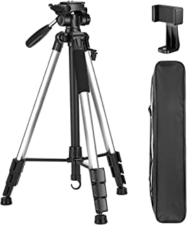 VICTIV 72 inch Camera Tripod, Aluminum Lightweight Travel Tripod for DSLR with Phone Holder and Extra Quick Release Plate ...