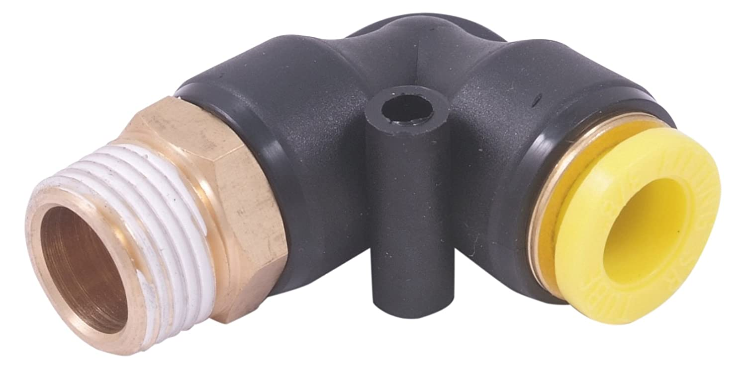 HHIP 8401-0298 Push to Connect Male Pneumatic Elbow Tube Fittings 1//4 x 1//8 NPT