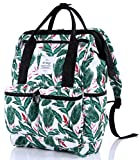 HotStyle DISA Mochila Floral Vintage Mujer para Notebook 14-Inch (44x27x17cm), Blanco