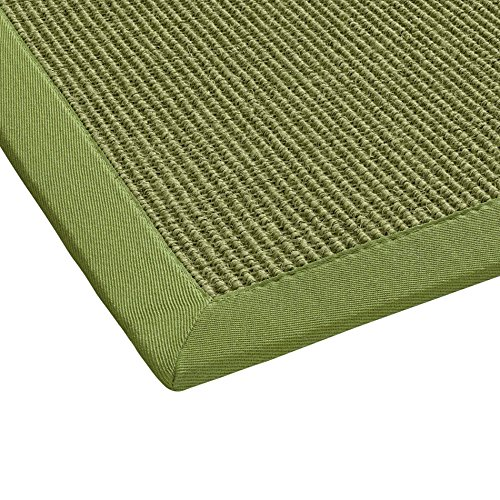 BODENMEISTER Sisal-Teppich modern hochwertige Bordüre Flachgewebe, verschiedene Farben und Größen, Variante: grün, 120x170