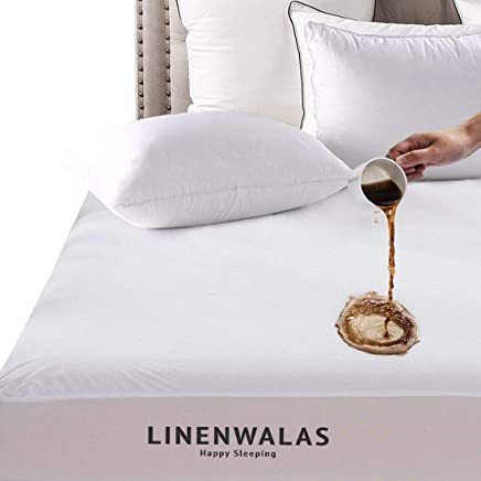 Linenwalas Reinforced Waterproof Mattress Protector – 100% Quiet, Hypoallergenic,  Breathable, Cooling and Vinyl Free Premium Matress Protection Cover