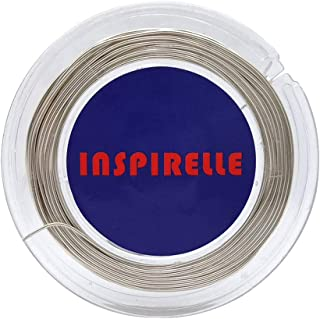 INSPIRELLE 20 Guage Tarnish Resistant 49 Feet Silver Copper Wire Jewelry Making Craft Wire (0.8mm)
