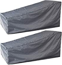 boyspringg Patio Chaise Lounge Chair Cover Waterproof Outdoor Chaise Covers Sun Lounge Cover Lightweight for Garden Yard F...