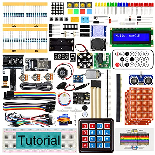 Freenove Ultimate Starter Kit for ESP32-WROVER (Contained) (Compatible with Arduino IDE), Onboard Camera Wi-Fi Bluetooth, C Python, 725-Page Detailed Tutorials, 238 Items, 68 Projects