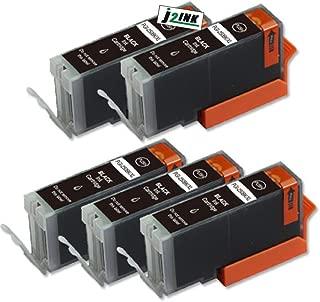 J2INK 5 Pack Compatible PGI-270 XL PGI270XL Black Ink Cartridge Replacement For PIXMA MG5720 MG5721 MG5722