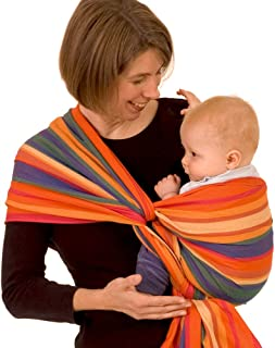 DIDYMOS Woven Wrap Baby Carrier Stripes KATJA (Organic Cotton), Size 5