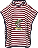 Playshoes Jungen Bademantel FMehrfarbigtee-Poncho Pirateninsel, Gr. One size (Herstellergröße: S), Mehrfarbig (original 900)